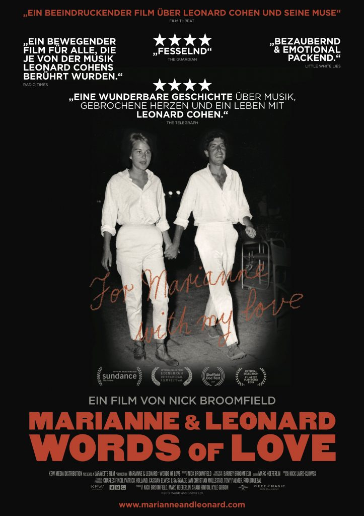 Marianne und Leonard_Piece of Magic Entertainment_Plakat final