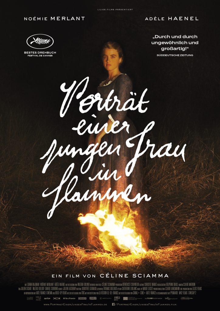 Porträt einer jungen Frau in Flammen_Alamode_Plakat